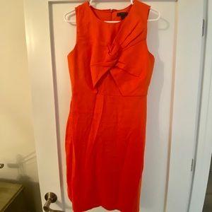 J Crew orange dress
